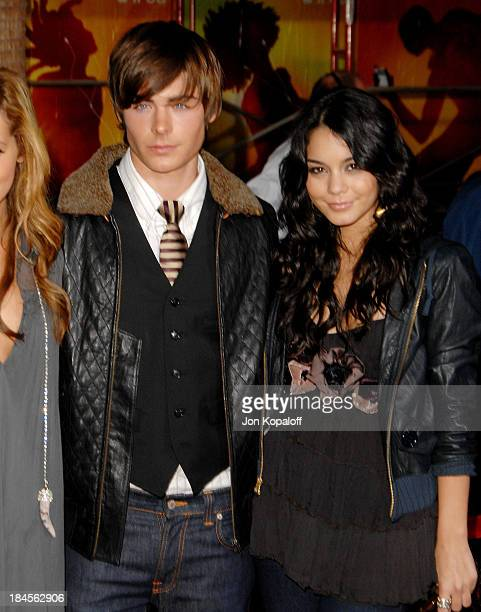 Actor Zac Efron and actress Vanessa Hudgens arrive at the premiere High School 2 Extended Edition DVD Release at the El Capitan Theater on November...