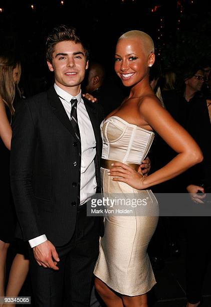 "Actor Zac Efron and Amber Rose attend the after party for The Cinema Society with Screenvision & Brooks Brothers screening of ""Me And Orson Welles""..."