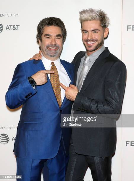 """Actor Zac Efron and director Joe Berlinger attend the screening of """"Extremely Wicked, Shockingly Evil and Vile"""" during the 2019 Tribeca Film Festival..."""