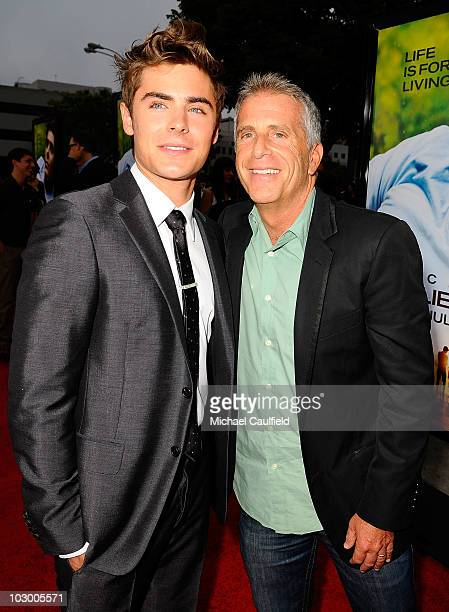 Actor Zac Efron and producer Marc Platt arrive at the premiere of Universal Pictures' Charlie St Cloud held at the Regency Village Theatre on July 20...