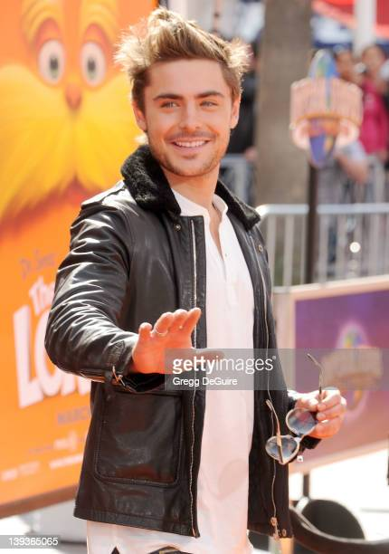 Actor Zac Efron arrives at Dr Seuss' The Lorax Los Angeles Premiere at Universal Studios Hollywood on February 19 2012 in Universal City California