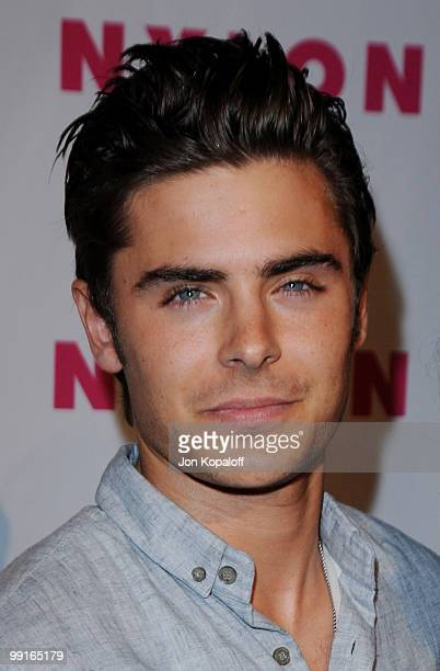 Actor Zac Efron arrives at NYLON Magazine's May Issue Young Hollywood Launch Party at The Roosevelt Hotel on May 12 2010 in Hollywood California
