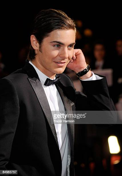 Actor Zac Efron arrives at the 81st Annual Academy Awards held at Kodak Theatre on February 22 2009 in Los Angeles California