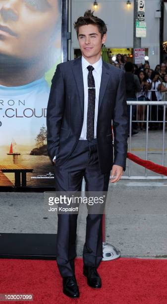 Actor Zac Efron arrives at the Los Angeles Premiere Charlie St Cloud at Regency Village Theatre on July 20 2010 in Westwood California