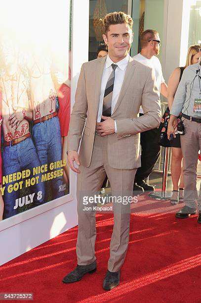 """Actor Zac Efron arrives at the Los Angeles Premiere """"Mike And Dave Need Wedding Dates"""" at the ArcLight Cinerama Dome on June 29, 2016 in Los Angeles,..."""