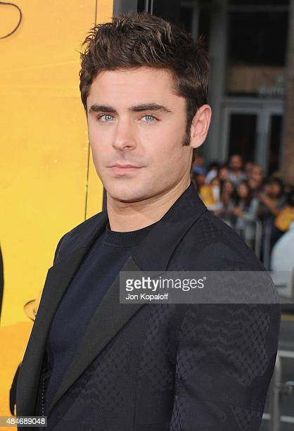 Actor Zac Efron arrives at the Los Angeles Premiere 'We Are Your Friends' at TCL Chinese Theatre on August 20 2015 in Hollywood California