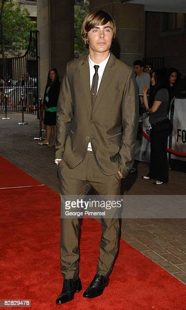 """Actor Zac Efron arrives at the """"Me and Orson Welles"""" Premiere held at the Ryerson Theatre during the 2008 Toronto International Film Festival on..."""