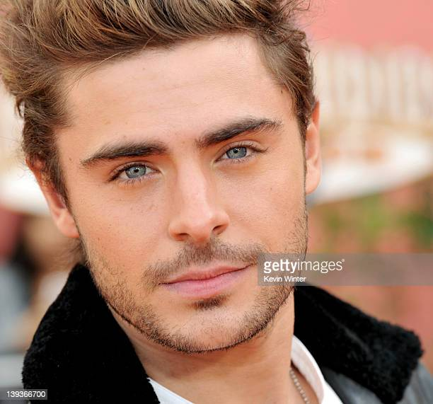 Actor Zac Efron arrives at the premiere of Universal Pictures and Illumination Entertainment's 3DCG Dr Seuss' The Lorax at Citywalk on February 19...