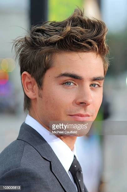 Actor Zac Efron arrives at the premiere of Universal Pictures' Charlie St Cloud held at the Regency Village Theatre on July 20 2010 in Westwood...