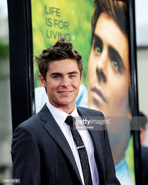 Actor Zac Efron arrives at the premiere of Universal Pictures' Charlie St Cloud at the Village Theater on July 20 2010 in Los Angeles California