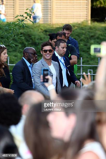 Actor Zac Efron arrives at the 'We Are Your Friends' Premiere at Kinepolis on August 12 2015 in Lille France