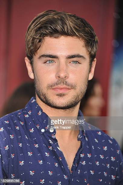 Actor Zac Efron arrives at the world premiere of Rock of Ages held at Grauman's Chinese Theater in Hollywood