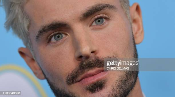 US actor Zac Efron arrives for the Los Angeles premiere of The Beach Bum at the Arclight cinemas on March 28 2019 in Hollywood