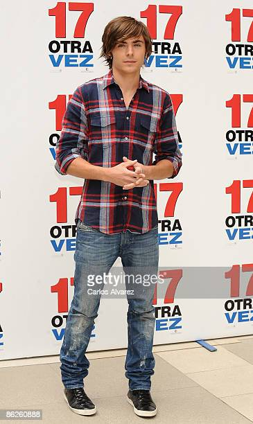Actor Zac Efron attends 17 Again photocall at the Villamagna Hotel on April 28 2009 in Madrid Spain