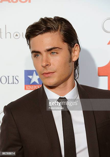 Actor Zac Efron attends 17 Again premiere at Kinepolis Cinema on April 28 2009 in Madrid Spain