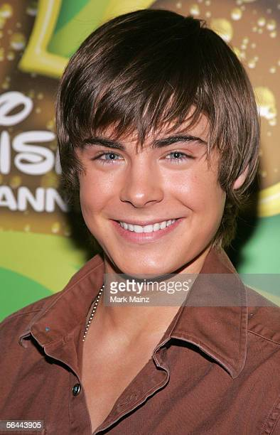 Actor Zac Efron attends a breakfast with the cast and director of High School Musical December 16 2005 at the Four Seasons Hotel in Beverly Hills...