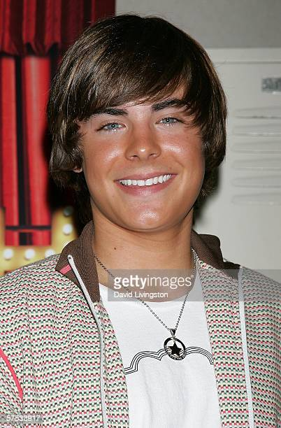 Actor Zac Efron attends a QA session with the cast and producers of the Disney Channel and Walt Disney Home Entertainment's High School Musical at...