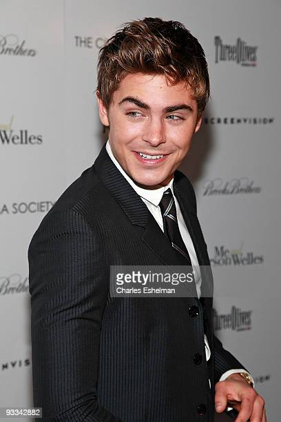 """Actor Zac Efron attends a screening of """"Me And Orson Welles"""" hosted by the Cinema Society, Screenvision and Brooks Brothers at Clearview Chelsea..."""