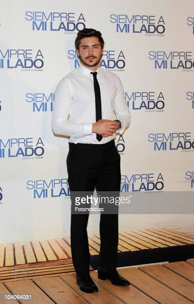 Actor Zac Efron attends 'Siempre a mi Lado' premiere at Capitol Cinema on September 13 2010 in Madrid Spain