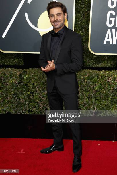 Actor Zac Efron attends The 75th Annual Golden Globe Awards at The Beverly Hilton Hotel on January 7 2018 in Beverly Hills California