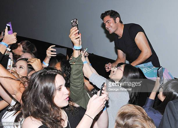 Actor Zac Efron attends the Canadian Premiere of Warner Bros Pictures We Are Your Friends at Scotiabank Theatre on August 14 2015 in Toronto Canada