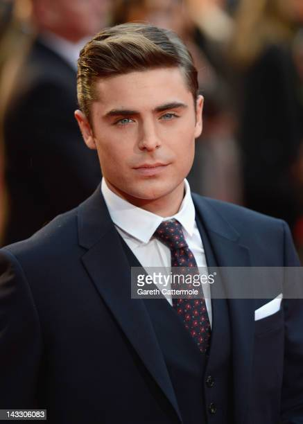 """Actor Zac Efron attends """"The Lucky One"""" European film premiere at the Bluebird on April 23, 2012 in London, England."""