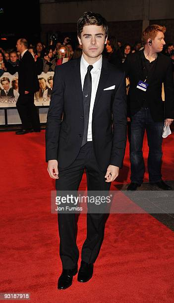 Actor Zac Efron attends the 'Me & Orson Welles' UK Premiere at the Vue West End on November 18, 2009 in London, England.