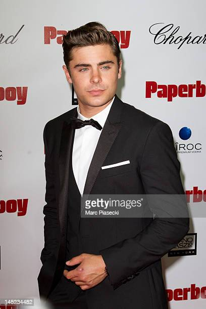 Actor Zac Efron attends the 'Paperboy' photocall at Carlton beach during the Cannes Film Festival on May 24 2012 in Cannes France