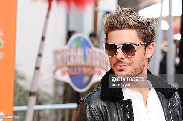 Actor Zac Efron attends the premiere of Dr Seuss' The Lorax at Universal Studios Hollywood on February 19 2012 in Universal City California