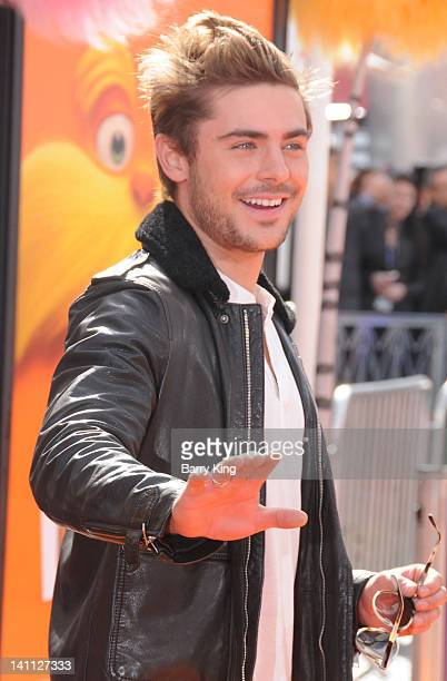 Actor Zac Efron attends the premiere of Dr Seuss' 'The Lorax' at Universal Studios Hollywood on February 19 2012 in Universal City California