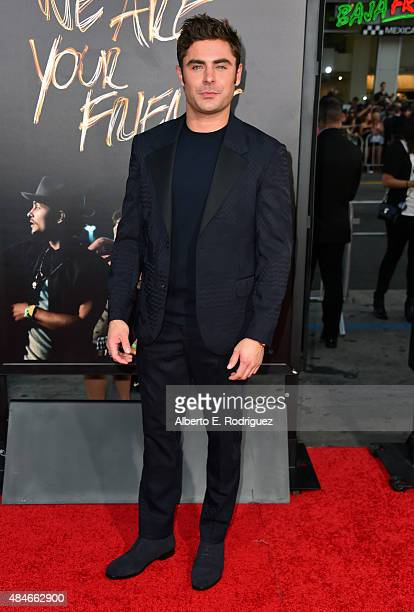 Actor Zac Efron attends the premiere of Warner Bros Pictures' 'We Are Your Friends' at TCL Chinese Theatre on August 20 2015 in Hollywood California