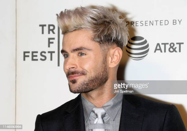 "Actor Zac Efron attends the screening of ""Extremely Wicked, Shockingly Evil and Vile"" during the 2019 Tribeca Film Festival at BMCC Tribeca PAC on..."