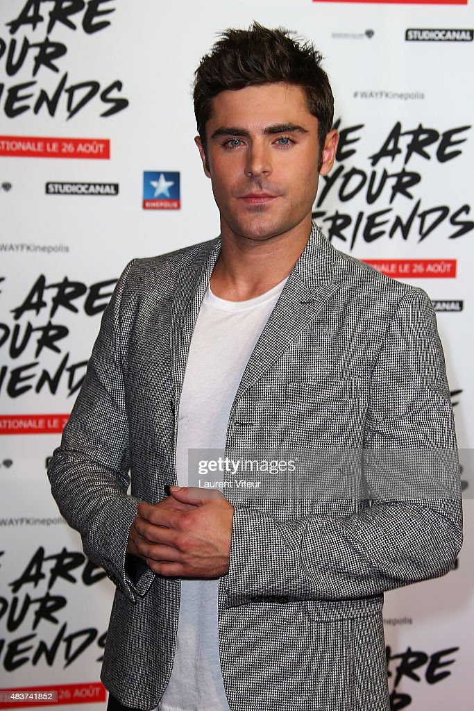 Actor Zac Efron attends the 'We Are Your Friends' Premiere at Kinepolis on August 12, 2015 in Lille, France.