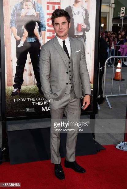 """Actor Zac Efron attends Universal Pictures' """"Neighbors"""" premiere at Regency Village Theatre on April 28, 2014 in Westwood, California."""