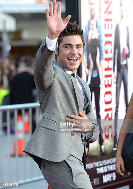 Actor Zac Efron attends Universal Pictures' 'Neighbors' premiere at Regency Village Theatre on April 28, 2014 in Westwood, California.