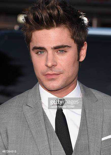 Actor Zac Efron attends Universal Pictures' 'Neighbors' premiere at Regency Village Theatre on April 28 2014 in Westwood California