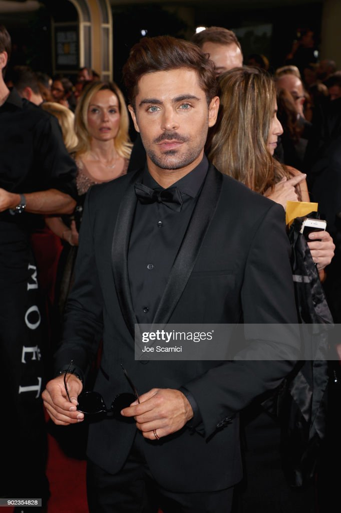 Actor Zac Efron celebrates The 75th Annual Golden Globe Awards with Moet & Chandon at The Beverly Hilton Hotel on January 7, 2018 in Beverly Hills, California.