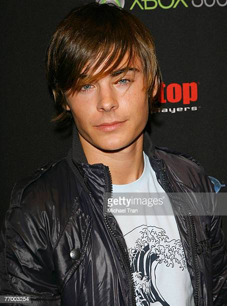 Actor Zac Efron hosts Halo 3 Midnight Madness at Gamestop a videogame store on September 24 2007 at Universal Citywalk in North Hollywood California