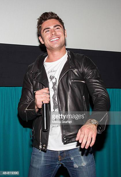 Actor Zac Efron introduces We Are Your Friends for the audience on August 21 2015 in San Francisco California