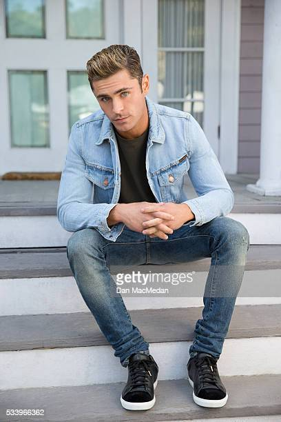 Actor Zac Efron is photographed for USA Today on April 30 2016 on the back lot of Universal Studios in Los Angeles California