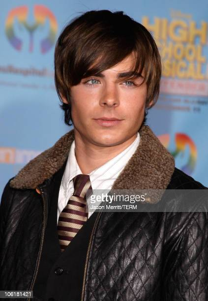 Actor Zac Efron poses at the DVD release of Disney Channels' 'High School Musical 2 Extended Edition' at The El Capitan Theatre on November 19 2007...