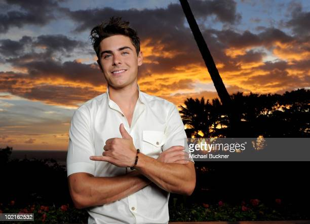 Actor Zac Efron poses for a portait for the Shining Star Award at the 2010 Maui Film Festival at the Celestial Cinema on June 16, 2010 in Wailea,...