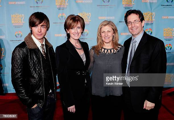 Actor Zac Efron President and cochairman of Disney/ABC Television Anne Sweeney Dr Aura Kuperberg and President of Entertainment for Disney Channel...