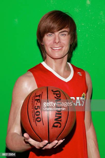 Actor Zac Efron wax figure unveiling at Madame Tussauds on April 2, 2009 in New York City.