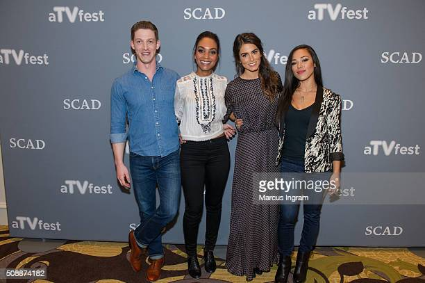 Actor Zach Appelman actress Lyndie Greenwood actress Nikki Reed and actress Jessica Camacho attend 'Sleepy Hollow' event during SCAD aTVfest 2016 Day...