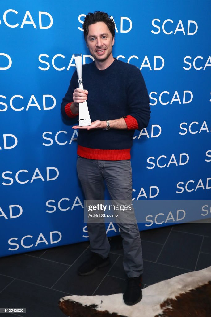 Actor Zach Braff accepts the Spotlight Award during Day 2 of SCAD aTVfest 2018 on February 2, 2018 in Atlanta, Georgia.