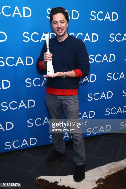 Actor Zach Braff accepts the Spotlight Award during Day 2 of SCAD aTVfest 2018 on February 2 2018 in Atlanta Georgia