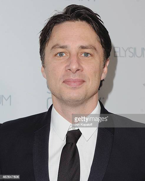 Actor Zach Braff arrives at The Art Of Elysium 8th Annual Heaven Gala at Hangar 8 on January 10 2015 in Santa Monica California