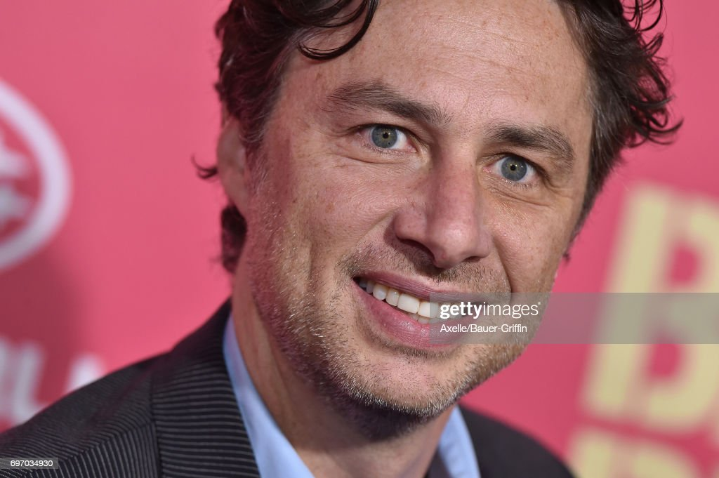 Actor Zach Braff arrives at the premiere of 'Baby Driver' at Ace Hotel on June 14, 2017 in Los Angeles, California.
