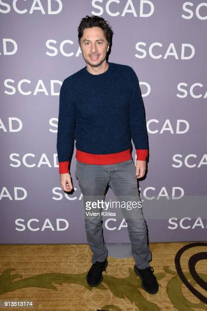 Actor Zach Braff attends a press junket for'Alex Inc'' on Day 2 of the SCAD aTVfest 2018 on February 2 2018 in Atlanta Georgia